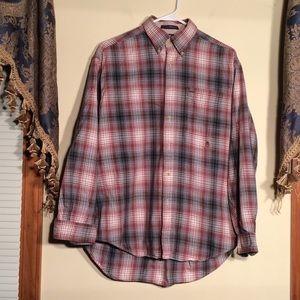 Tommy Hilfiger M Men's Shirt. Maroon/gray/white